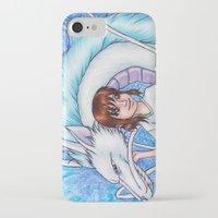 chihiro iPhone & iPod Cases featuring Spirited Away Chihiro and Haku by Kimberly Castello