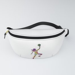 Young woman basketball player 02 in watercolor Fanny Pack