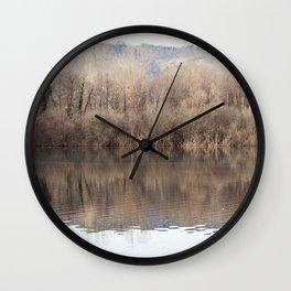 Water lake reflections Wall Clock