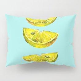 Lemon Slices Turquoise Pillow Sham