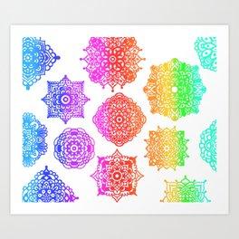Zentangle Flow #2 Art Print