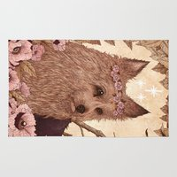 yorkie Area & Throw Rugs featuring Yorkie by Angela Rizza