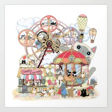 Amusement park Art Print