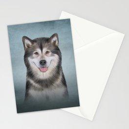 Drawing Dog Alaskan Malamute 12 Stationery Cards