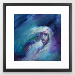 Selene in Moonlight Framed Art Print