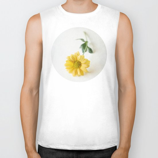 Yellow Flower StillLife Biker Tank
