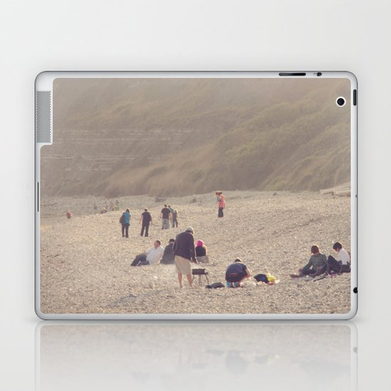 sandy sausages by the sea shore... Laptop & iPad Skin