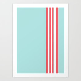 Seaside stripes Art Print