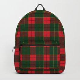 Christmas Plaid Scotland Ornaments Treny Holiday Decoration Backpack