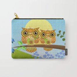 Spring owls on a sunny day Carry-All Pouch