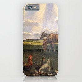 Columns of Sun over the Family Homestead on the American Plains by John Steuart Curry iPhone Case