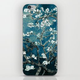 Van Gogh Almond Blossoms : Dark Teal iPhone Skin
