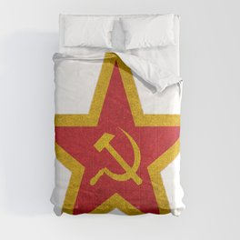 USSR Cold War Soviet Union Flag Communist Star Communism Russia Comforters