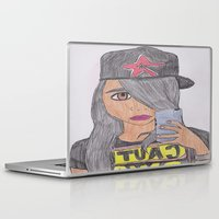 swag Laptop & iPad Skins featuring CAUTION SWAG by jillian hill