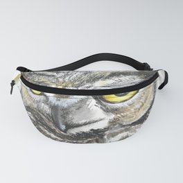Owl Night Bird Symbolism Symbol magic, mystery, and ancient knowledge Fanny Pack