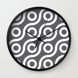 Fisheye Grey & White Wall Clock