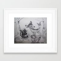 bambi Framed Art Prints featuring Bambi by Lynsie Petig