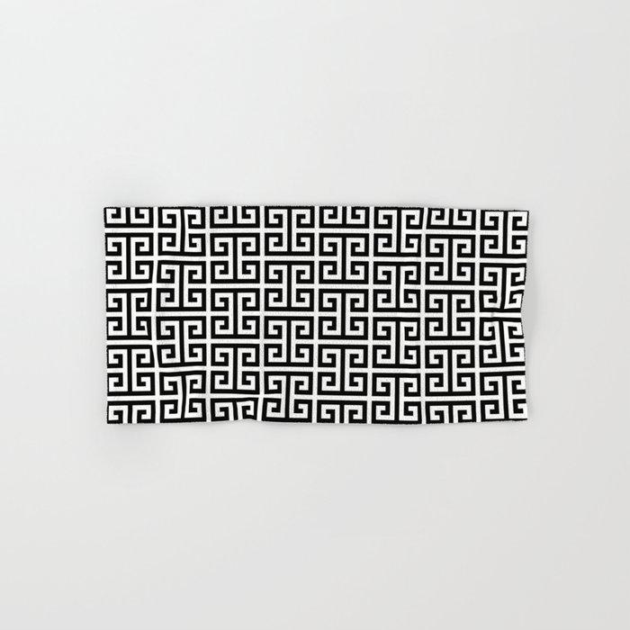 Black And White Greek Key Pattern Hand