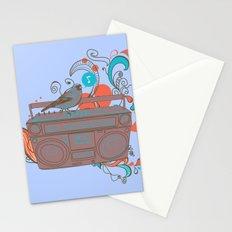 Retro Music Stationery Cards