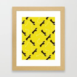 Dogs infinity - Fabric pattern Framed Art Print