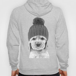 Black and White Cocker Spaniel Hoody