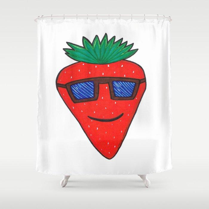 Strawberry Shower Curtain
