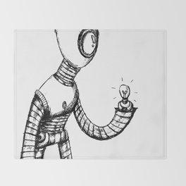 Lightbot by Star Throw Blanket