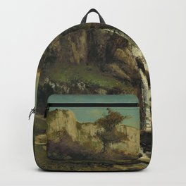 """Gustave Courbet """"La cascade (The waterfall)"""" Backpack"""