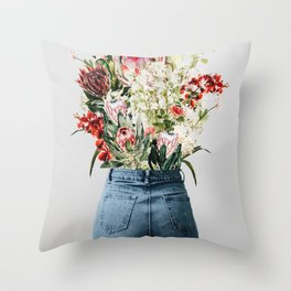 Bottomless Bouquet Throw Pillow