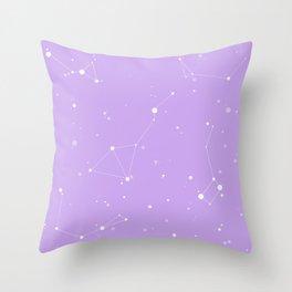 Pastel Purple Night Sky Throw Pillow