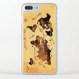 world map 75 Clear iPhone Case