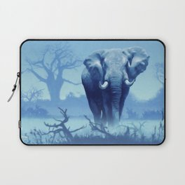 Misty Morning in the Tsavo Laptop Sleeve