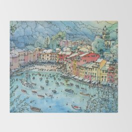 Portofino, Italy Throw Blanket