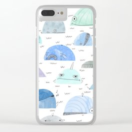 Whale party Clear iPhone Case