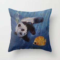 Panda Diver Throw Pillow
