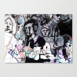 The Purple Mercury People Canvas Print