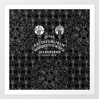 ouija Art Prints featuring OUIJA by DIVIDUS