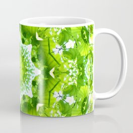 GREEN LEAVES MANDALA Coffee Mug