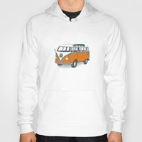 vw Hoodies featuring VW Campervan by Lara Trimming