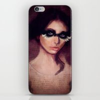 raven iPhone & iPod Skins featuring Raven by SannArt