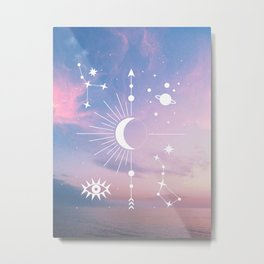 The Moon Boho Edition Metal Print