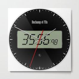 Digital Clock 01 Metal Print