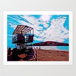 Burgh Island Sea Tractor Art Print