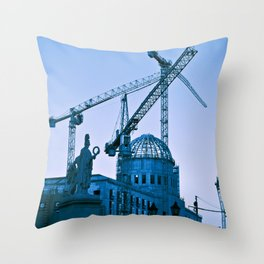 TRUE BLUE - BERLIN URBAN SPIRIT Throw Pillow
