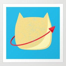 CatStronaut Emblem Art Print