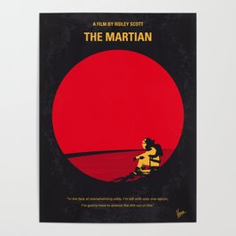 No620 My The Martian minimal movie poster Poster