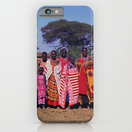 Sweet Welcome to a Massai Village - Kenya, Africa iPhone Case