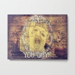 Hey You Guys Authentic Gold Sloth Metal Print