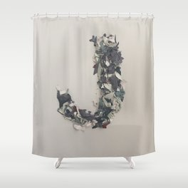 Letter J in Paint Shower Curtain