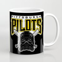 pittsburgh Mugs featuring Pittsburgh Pilots by Ant Atomic